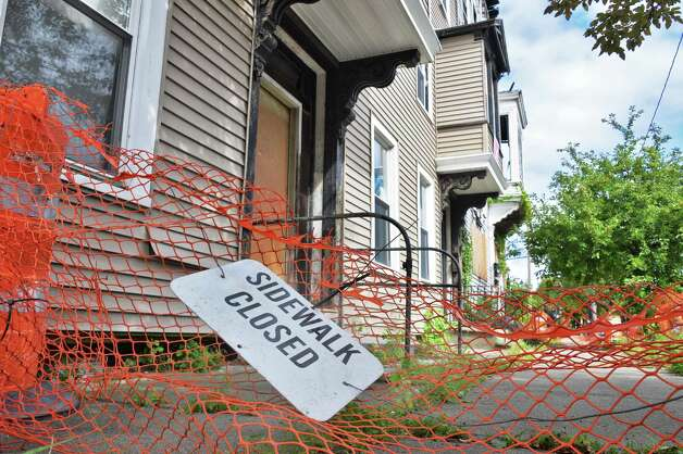 Abandon city-owned properties at 555 Second Avenue will be developed to house homeless veterans Friday Sept. 12, 2014, in Troy, NY.  (John Carl D'Annibale / Times Union) Photo: John Carl D'Annibale / 00028595A