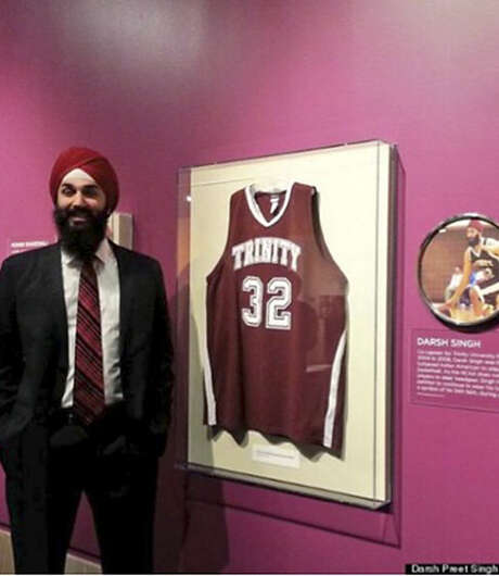 Darsh Preet Singh, who attended Trinity University, was the first turbaned Sikh basketball player to play in the NCAA. He is the author's brother. Photo: Courtesy Photo