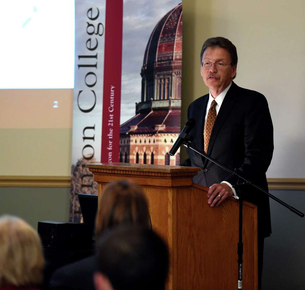 John Kelly, head of research for IBM speaks to the gathering at a breakfast at Union College Friday morning Sept. 12, 2014 in Schenectady, N.Y. (Skip Dickstein/Times Union)