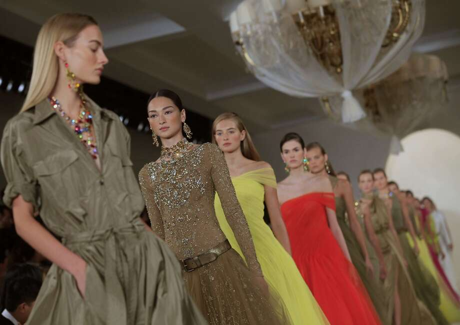 Models present creations by Ralph Lauren during the Mercedes-Benz Fashion Week Spring 2015 in New York on September 10, 2014. Photo: JOSHUA LOTT, AFP/Getty Images