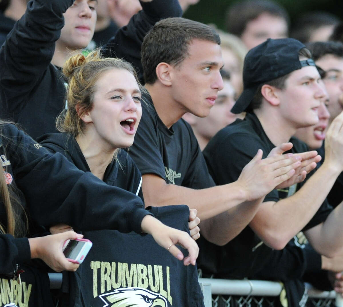 High School football game bewteen Trumbull High School and Shelton High School at Trumbull High School, Conn., Friday, Sept. 12, 2014.