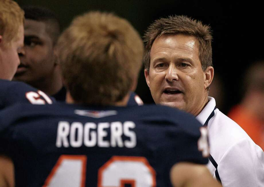 UTSA defensive line coach Eric Roark was diagnosed with Hodgkin's Disease in 1981 while playing for Oklahoma State. He underwent two surgeries and chemotherapy, was eventually declared cancer free and returned to play his senior year. Photo: Jeff Huehn / UTSA Athletics / ©2013 Jeff Huehn