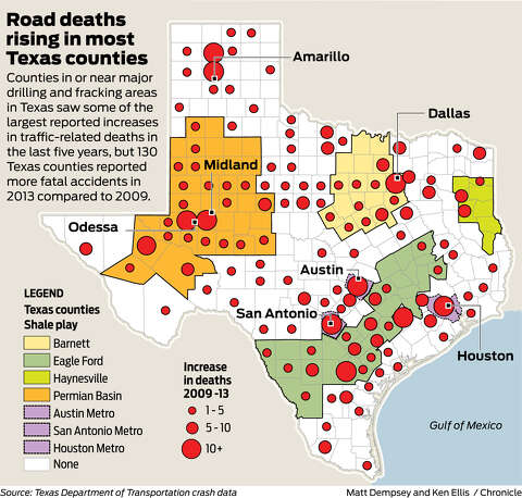 Fatal truck accidents have spiked during Texas' ongoing fracking and