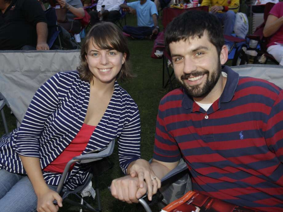 """¡Bienvenido, Andrés! ConcertSept. 12Fans attend the free """"¡Bienvenido, Andrés! Concert"""" at Miller Outdoor Theatre on Sept. 12. The event welcomed the Houston Symphony's new music director, Andres Orozco-Estrada. Photo: Melissa Phillip, Houston Chronicle"""