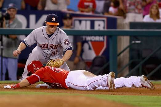 September 12: Angels 11, Astros 3  The Astros can't overcome an ugly fifth inning in the series opener against the Angels.  Record: 65-82. Photo: Jeff Gross, Getty Images