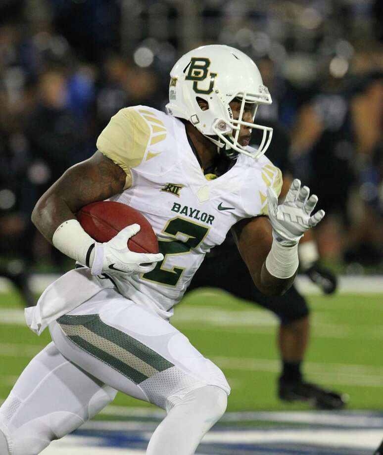 Baylor running back Johnny Jefferson (2) carries the ball during the second half of an NCAA college football game against Buffalo on Friday, Sept. 12, 2014, in Amherst, N.Y. Photo: Bill Wippert, AP / FR170745 AP