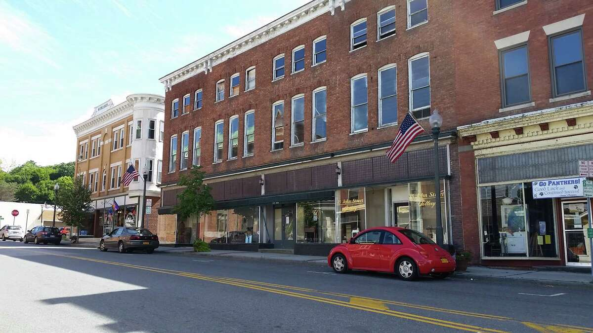Main Street in Hoosick Falls has handsome old buildings, but they're mostly empty. A new development, however, may start to turn things around. Interested in the housing market in Hoosick Falls? Click through the slideshow to see some homes currently on the market. For more, visit our real estate section. (Photo by Chris Churchill / Times Union)