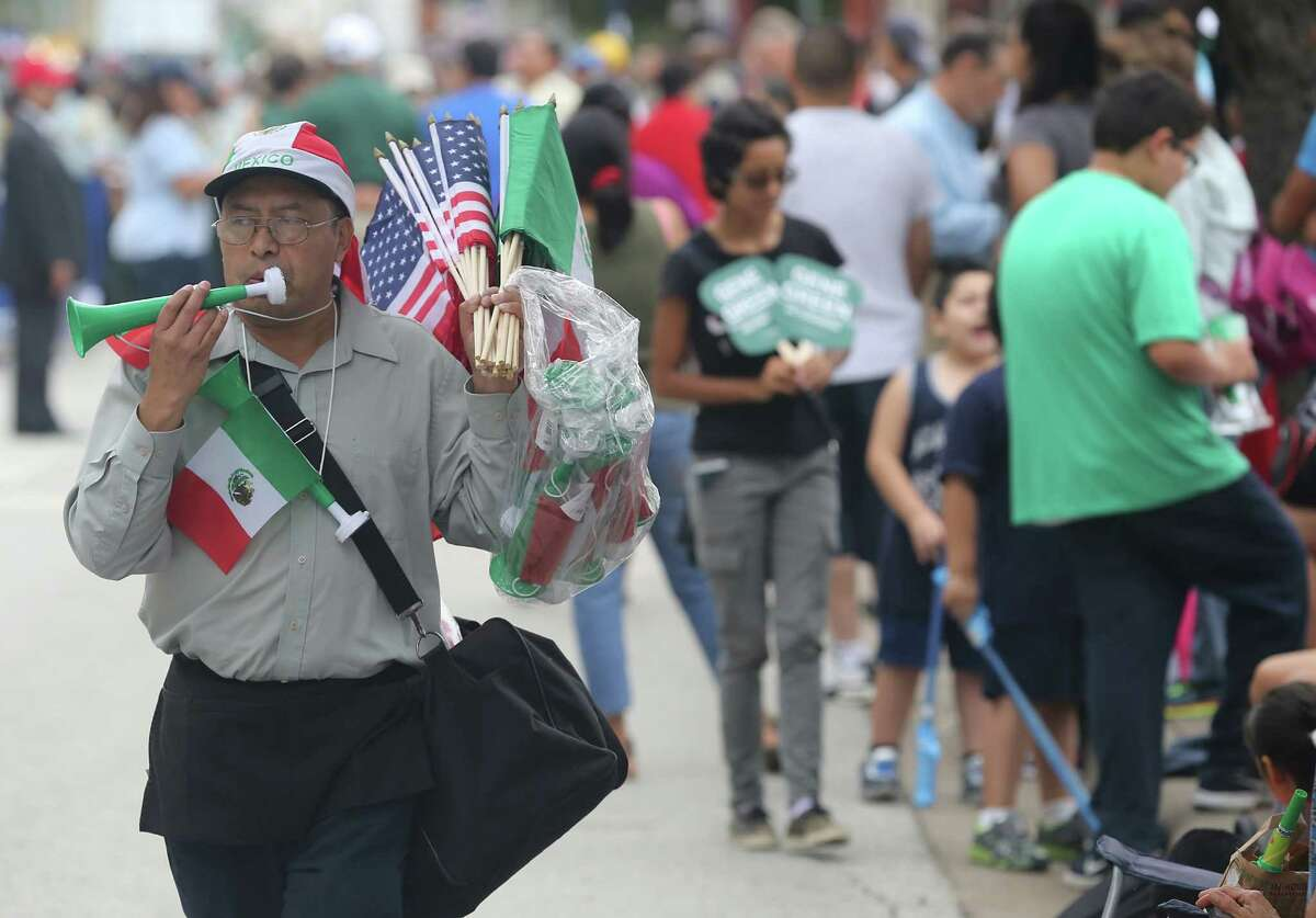 1. The Hispanic population is growing wildly The U.S. Census shows that Harris County's Hispanic population grew from 6 percent in 1960 to more than 40 percent by 2010. The county now has more than 1.7 million Hispanics. Carlos Gonzales sells flags at the 46th Annual Fiesta Patrias International Parade in downtown Houston. Source: Shared Prospects: Hispanics and the Future of Houston