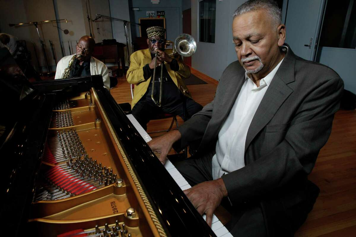 Joe Sample, at piano, rehearses with the Jazz Crusaders before a Sept. 10, 2011, reunion performance in Galveston.