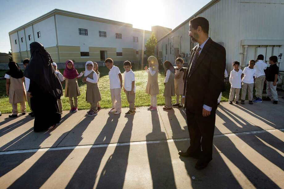 "Dr. Hamed Ghazali, director Houston Quran Academy in Katy, says he doesn't want the children ""living in a closed shell."" Photo: Brett Coomer, Staff / © 2014 Houston Chronicle"