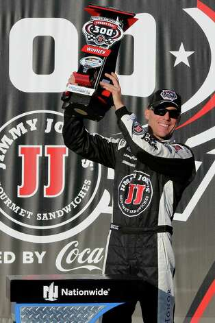 JOLIET, IL - SEPTEMBER 13: Kevin Harvick, driver of the #5 Jimmy John's Chevrolet, poses in victory lane after winning the NASCAR Nationwide Series Jimmy John's Freaky Fast 300 at Chicagoland Speedway on September 13, 2014 in Joliet, Illinois.  (Photo by Jerry Markland/Getty Images) ORG XMIT: 512369309 Photo: Jerry Markland / 2014 Getty Images