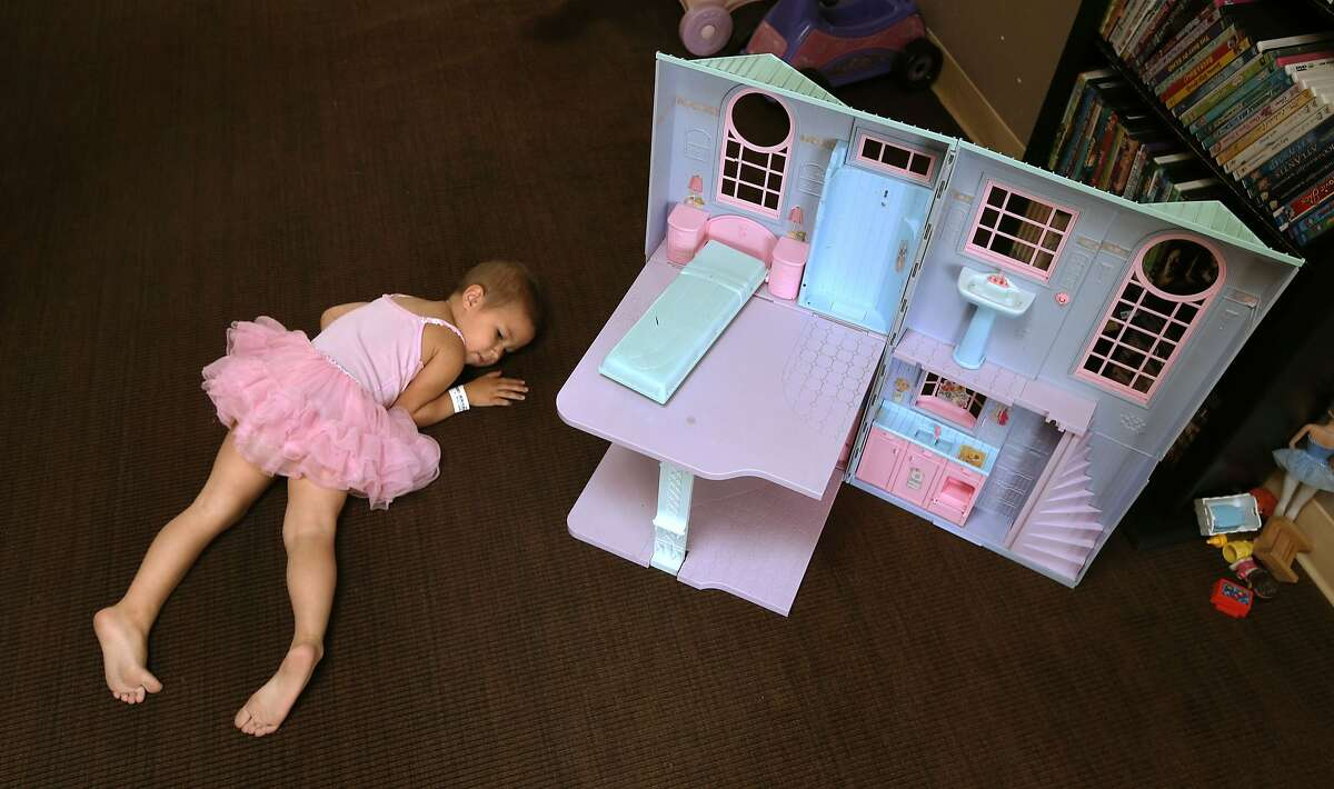 3-year-old Ronin Bigart takes a break in the community play room, at the Koret Family House where she has been staying with her family since Jan. 2014 while receiving treatment for Leukemia in San Francisco, Calif., as seen on Tuesday Sept. 9, 2014. Koret Family House provides. temporary housing to families of seriously ill children receiving treatment at the University of California San Francisco Benioff Children's Hospital.