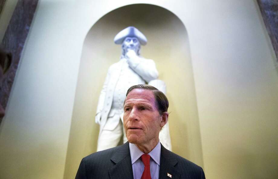 Sen. Richard Blumenthal, D-Conn., is a member of the Judiciary Committee who pushed to limit Republicans' use of filibusters against nominees for courts. Photo: Doug Mills / New York Times / NYTNS