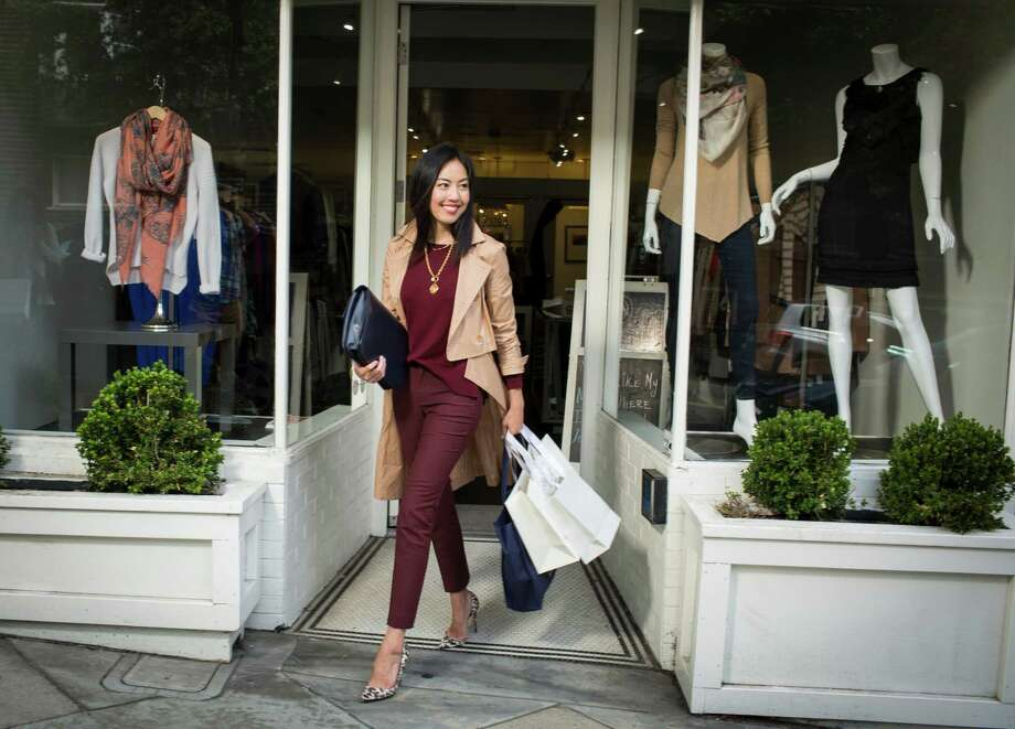 9to5chic blogger Anh Sundstrom is seen on Fillmore street on Wednesday, Sept. 3, 2014 in San Francisco, Calif. Photo: Russell Yip / The Chronicle / ONLINE_YES