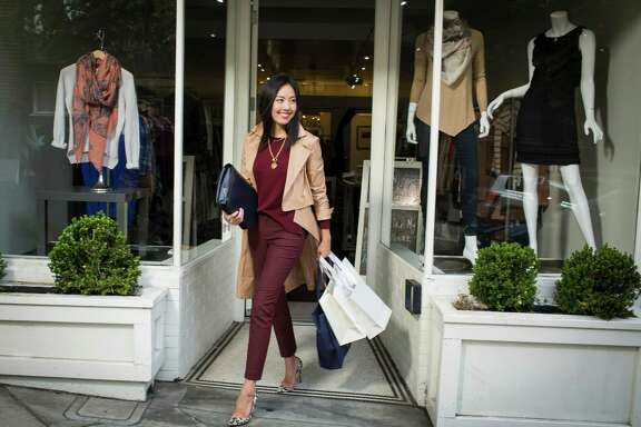 9to5chic blogger Anh Sundstrom is seen on Fillmore street on Wednesday, Sept. 3, 2014 in San Francisco, Calif.