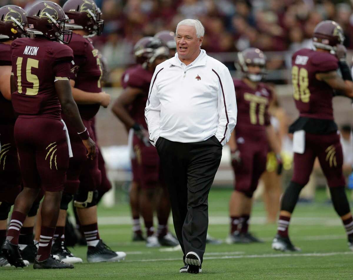 11.Dennis Franchione -Texas State Record at Texas State: 18-22 2015 Salary: $425,000Bonus Money APR greater than 960 but not greater than 970: $7,500 Note on APR:Academic Progress Rate (APR) holds institutions accountable for the academic progress of their student-athletes through a team-based metric that accounts for the eligibility and retention of each student-athlete for each academic term