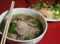 Pho Tai is a sliced rare eye round noodle soup served up at Pho Four Seasons Vietnamese Cuisine.  Guiseppe Barranco/The Enterprise