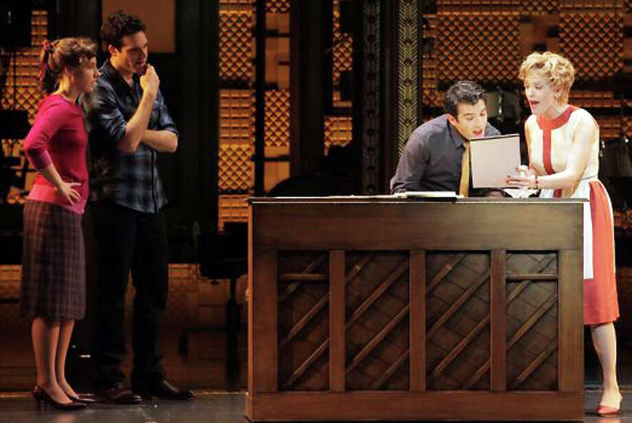 "Jessie Mueller as Carole King, Jake Epstein as Gerry Goffin, Jarrod Spector as Barry Mann and Anika Larsen as Cynthia Weil in a dress rehearsal of ""Beautiful: The Carole King Musical."" Photo: The Chronicle / Fairfield Citizen"