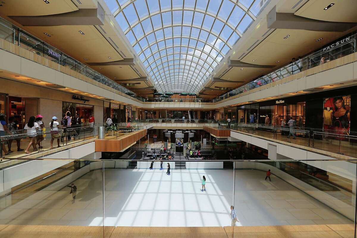 Amidst the Galleria's world-class shopping is the first-floor ice skating rink.