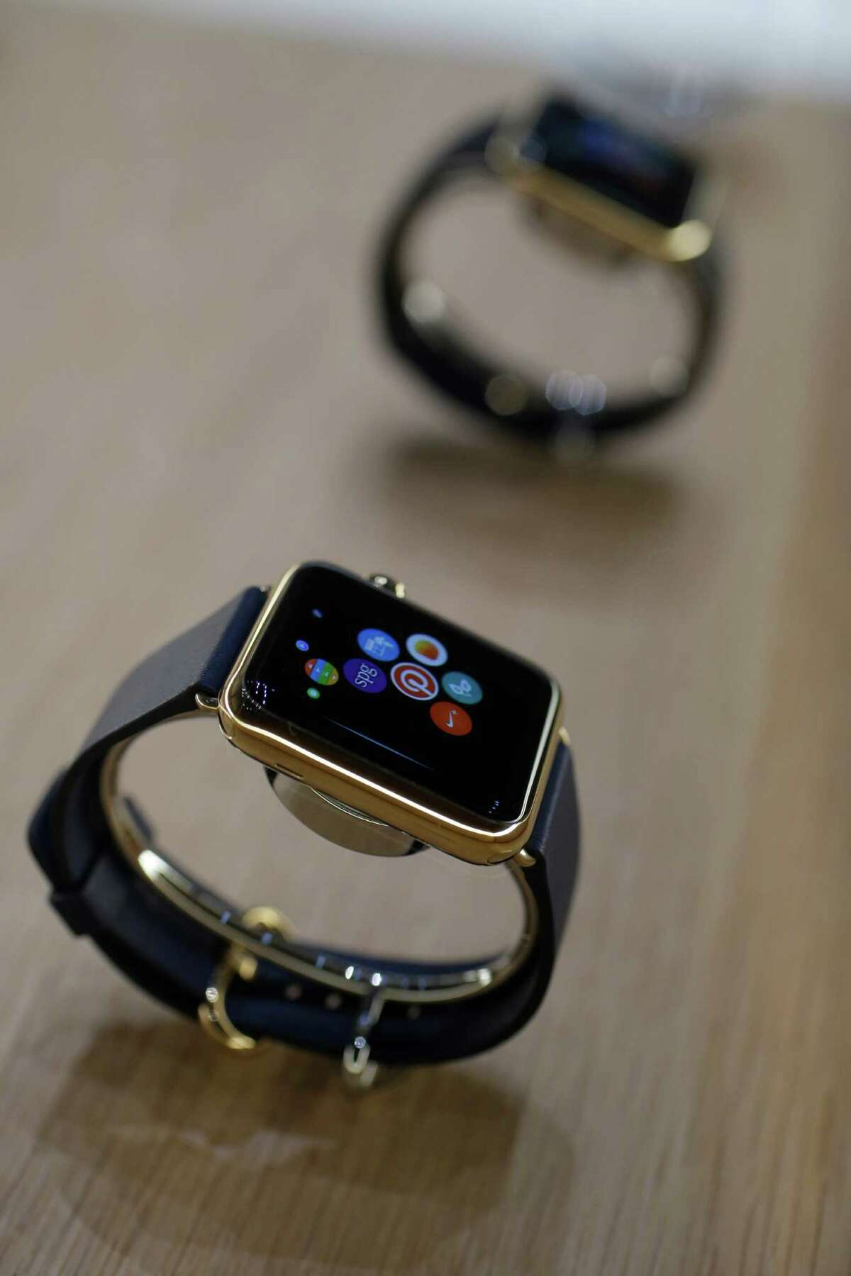 The Apple Watch is displayed on Tuesday, Sept. 9, 2014, in Cupertino, Calif.AP Review: Apple Watch looks to be another winner