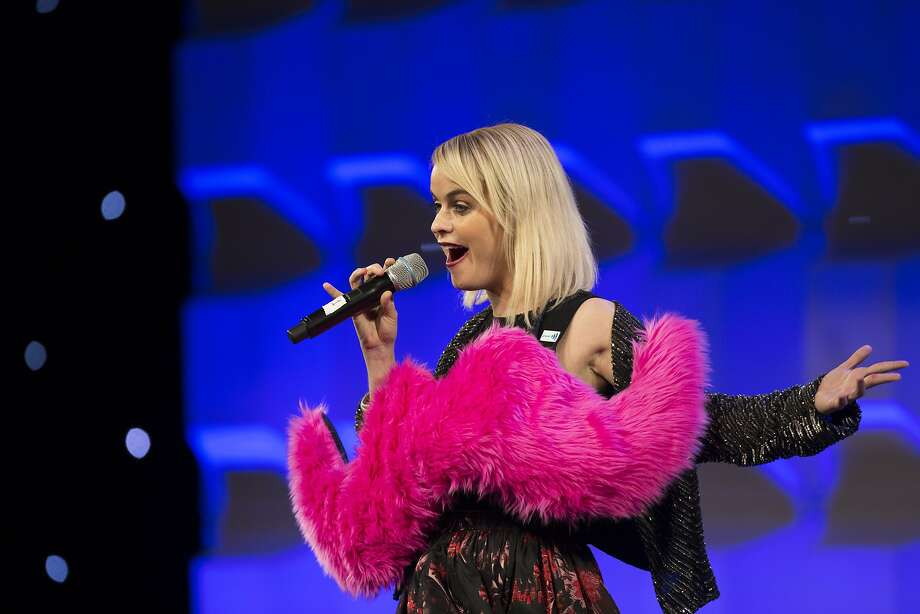 Taryn Manning, who plays Pennsatucky on Orange is the New Black, takes the stage as the host of the Gay and Lesbian Alliance Against Defamation annual gala at the San Francisco Hilton on September 13, 2014. Photo: Tim Hussin, Special To The Chronicle