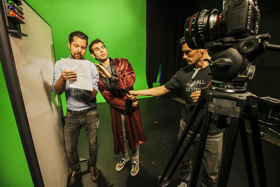 The crew of Vsauce3, a YouTube channel devoted to fictional worlds such as video games, films in a studio the website opened in Los Angeles. YouTube also has studios in Tokyo and London. Photo: Ted Soqui, Special To The Chronicle