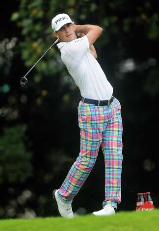 Billy Horschel hits from the tee on the eighth hole during the final round of play in the Tour Championship golf tournament  Sunday, Sept. 14, 2014, in Atlanta. (AP Photo/John Amis)  ORG XMIT: GAJB115 Photo: John Amis / FR170493 AP