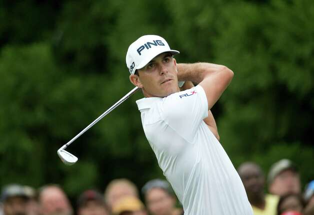 Billy Horschel hits from the tee on the second hole during the final round of play in the Tour Championship golf tournament Sunday, Sept. 14, 2014, in Atlanta. (AP Photo/John Bazemore)  ORG XMIT: GAJB110 Photo: John Bazemore / AP