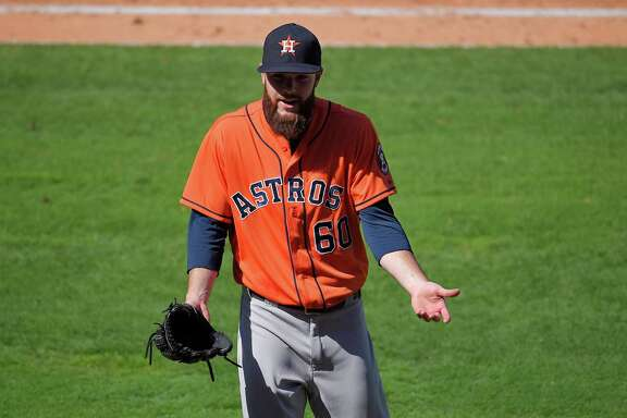 Dallas Keuchel seems at a loss to explain his good fortune in the sixth inning Sunday, but the game continued a breakthrough season for the Astros lefthander.