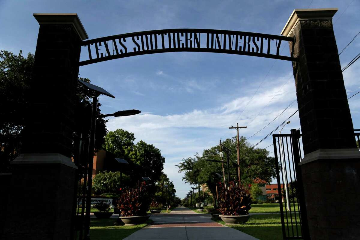 An entrance to Texas Southern University in The Greater Third Ward Saturday, Aug. 9, 2014, in Houston, Texas.