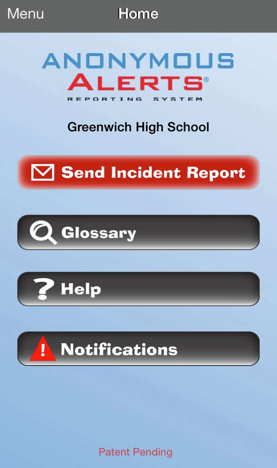 Greenwich High School has made an app called Anonymous Alerts available for students, teachers, parents and other community members to submit anonymous reports about issues such as bullying. Photo: Contributed Photo / Greenwich Time