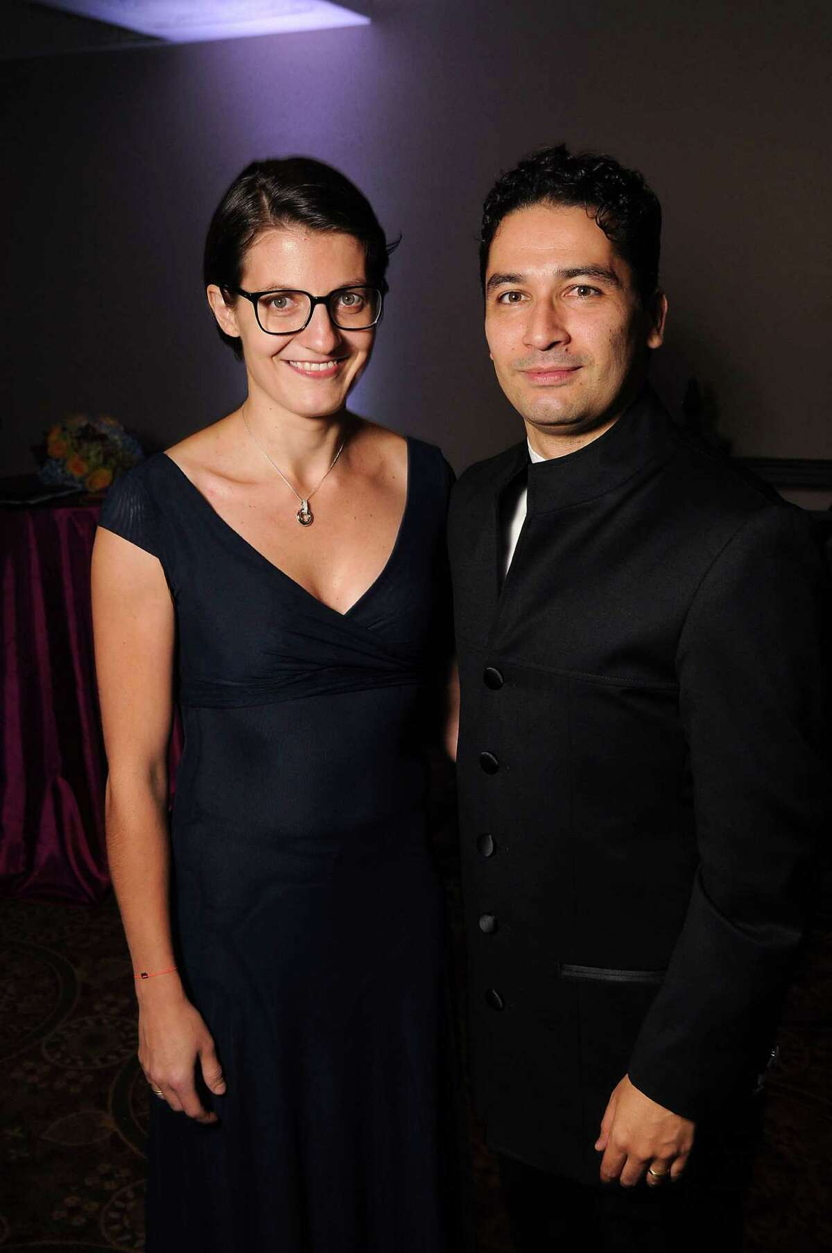 Houston Symphony music director Andrés Orozco-Estrada and his wife, Julia Orozco-Estrada, at the Houston Symphony's Opening Night Gala at The Corinthian.