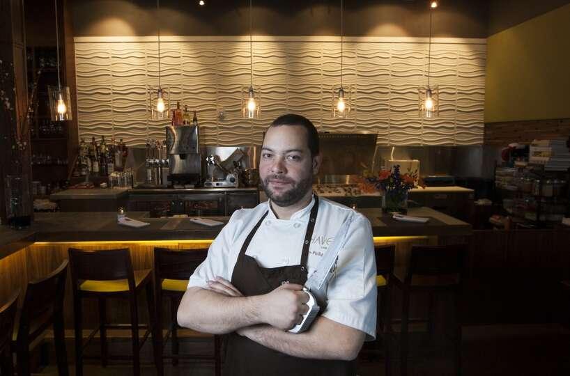 Chef de cuisine jean philippe gaston poses for a portrait for Cuisine jean philippe