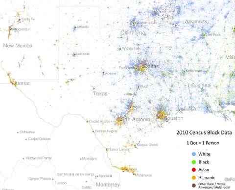 Racial Dot Map - San Antonio Express-News on