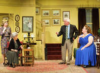 "The recent New York hit ""Dividing the Estate"" by Horton Foote is being presented through October 12 at the Sherman Playhouse. The ensemble includes (from left) Jackie Decho Holm, Ellen Burnett, Leo Paul, and Beth Bonnabeau."