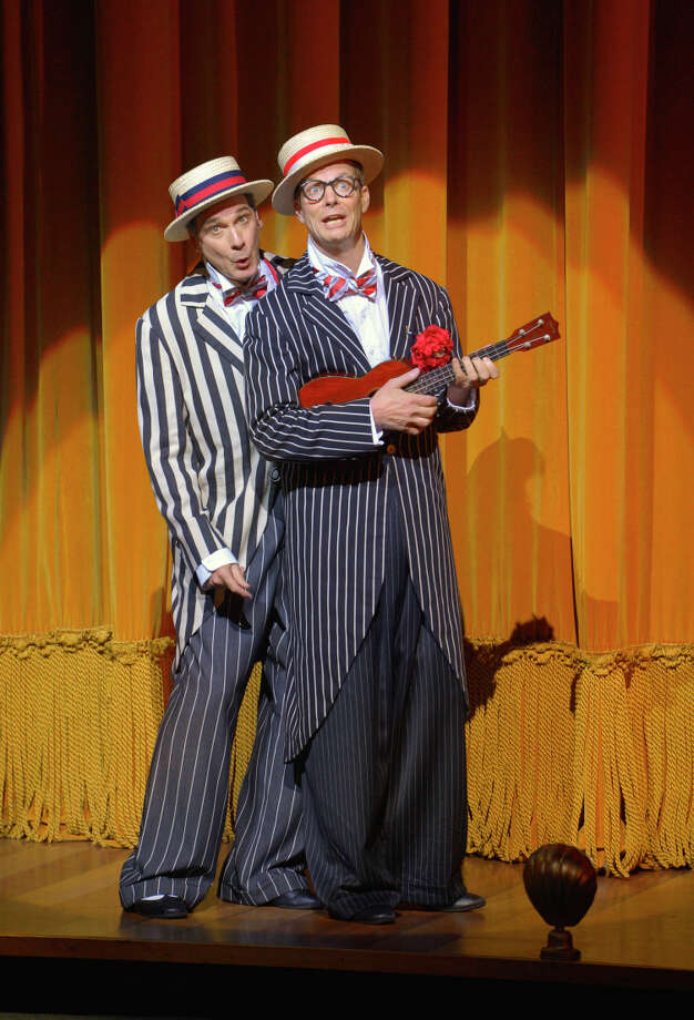 "David Shiner (left) and Bill Irwin, in ""Old Hats"" at ACT, previously made their mark in ""Fool Moon."" Photo: Kevin Berne / ONLINE_YES"