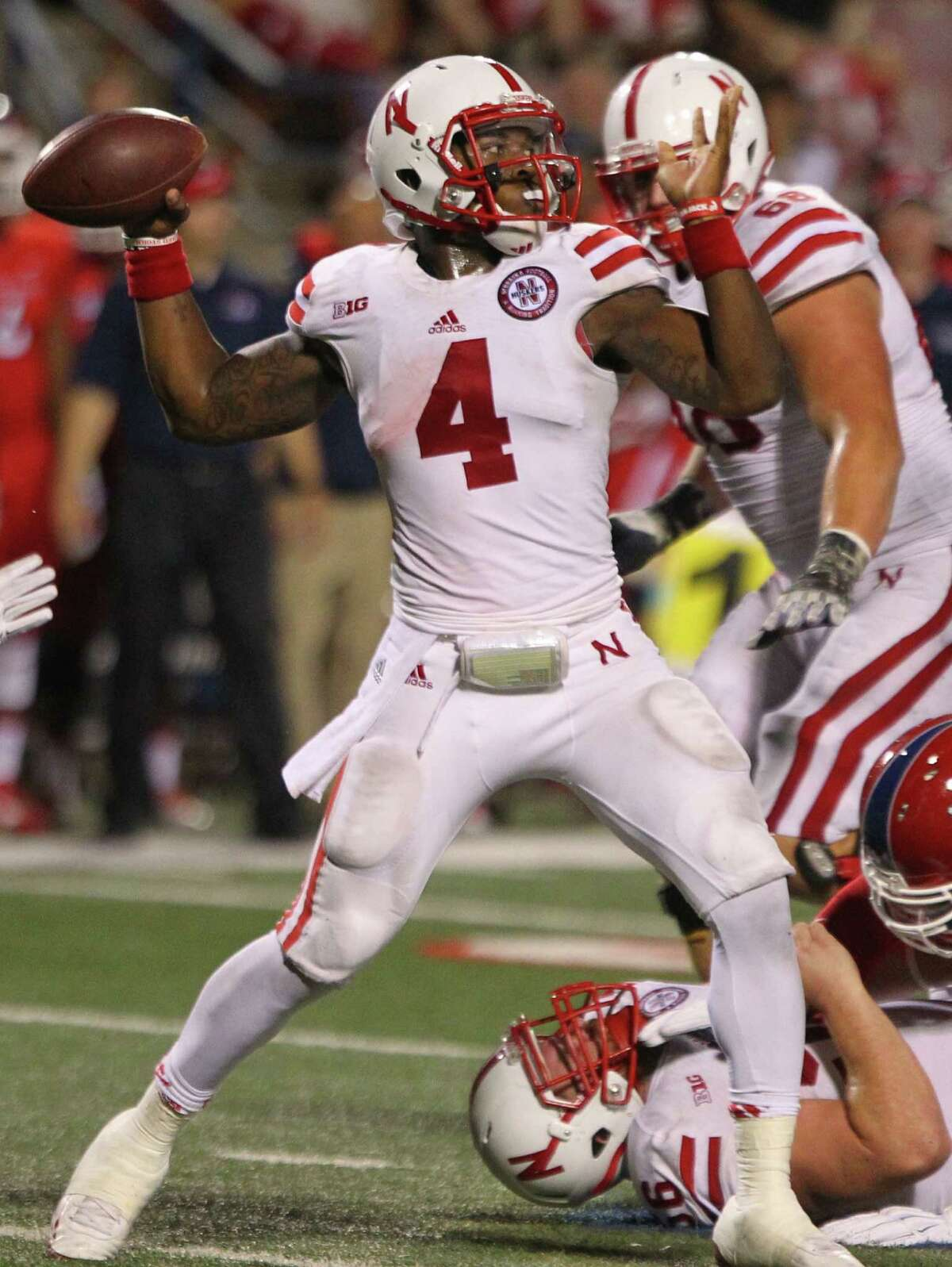 Tommy Armstrong Jr. went to Steele High School and plays quarterback for Nebraska.