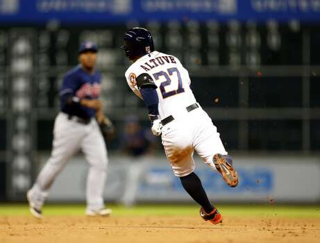 September 15: Astros 3, Indians 1  All-Star second baseman Jose Altuve tallied three hits to lead the Astros to a win and leave him just one hit shy of the team record for a season.  Record: 67-83. Photo: Karen Warren, Houston Chronicle
