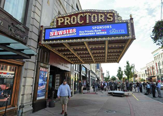 The newly renovated and modernized marquee is unveiled at Proctors on Monday, Sept. 15, 2014 in Schenectady, N.Y. (Lori Van Buren / Times Union) Photo: Lori Van Buren / 00028616A