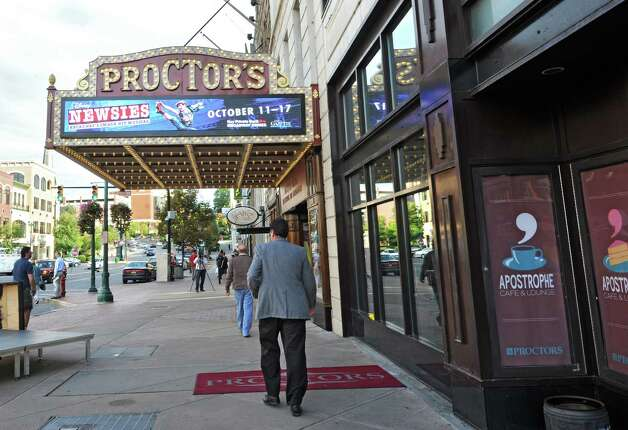 The newly renovated and modernized marquee is unveiled at Procto's on Monday, Sept. 15, 2014 in Schenectady, N.Y. (Lori Van Buren / Times Union) Photo: Lori Van Buren / 00028616A