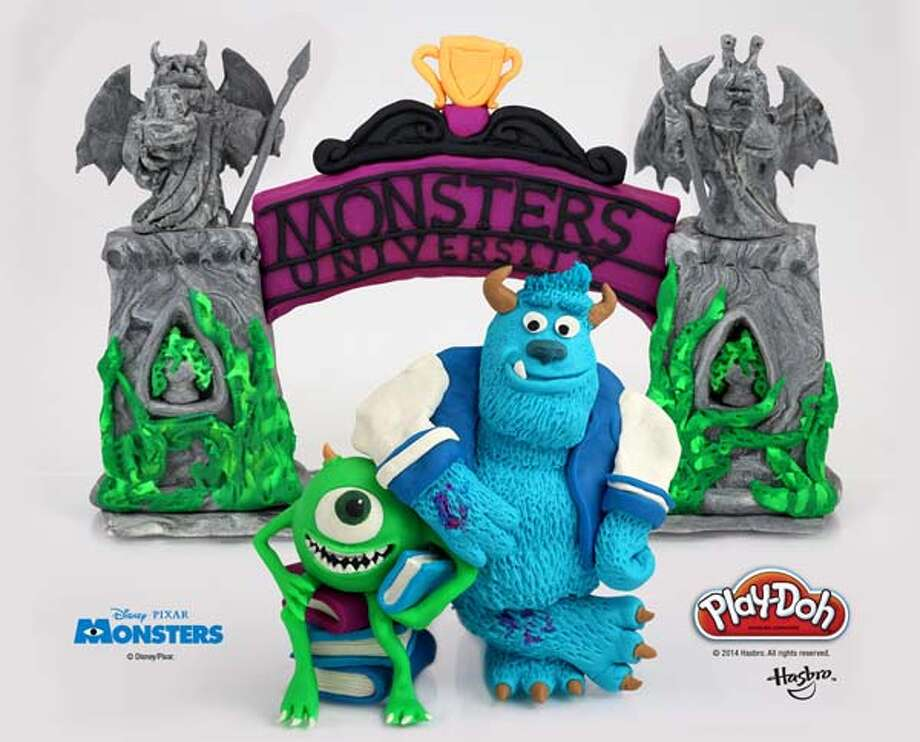 "Mike and Sully at ""Monsters University."" Photo: Hasbro/Play-doh"