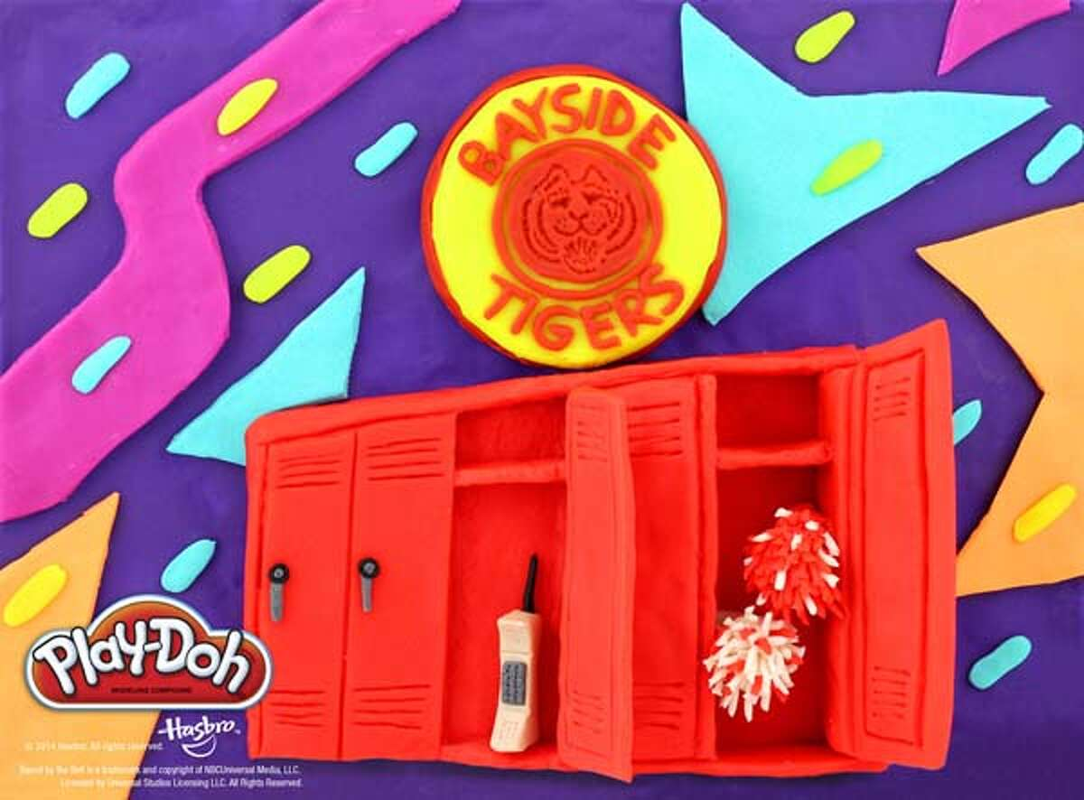 """The lockers and cool '90s print from """"Saved by the Bell."""""""