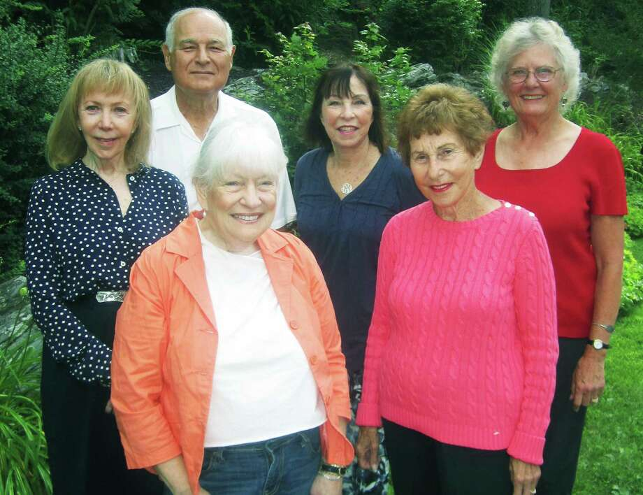 Among those now serving as board members for the Jewish Community Center in Sherman are, from left to right, front, Ilene Deutsch and Sandra Povman; and, back, Mona Joy Roth; Russ Whitman, president; Beth Shafran, vice president; and Marge Josephson. Absent were Bernard Hoberman, treasurer; Stan Greenbaum, Hannah Schorr; Bobby Valins, secretary; and June Falk. September 2014 Photo: Norm Cummings / The News-Times