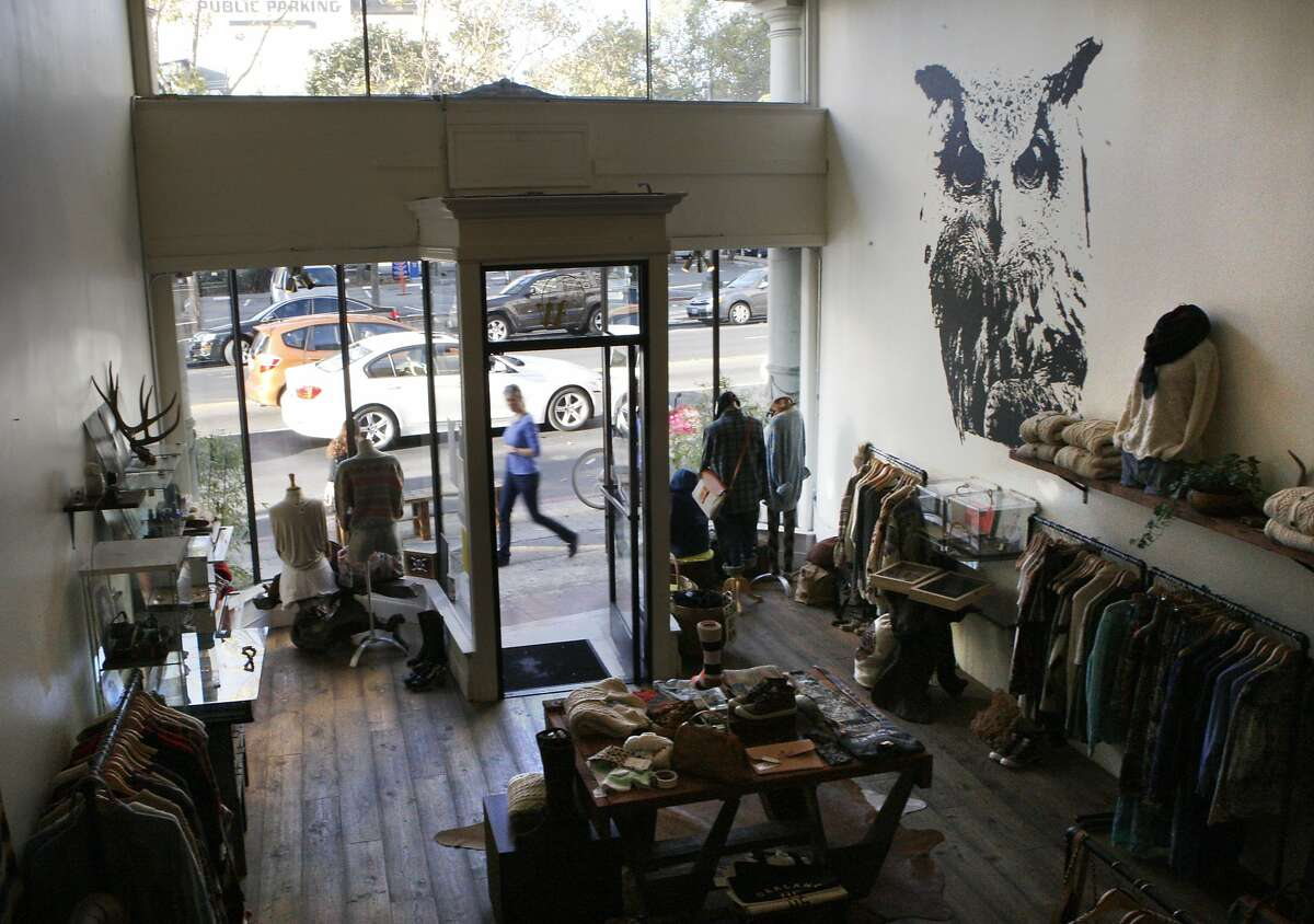 A view of the inside of OwlNWood in Oakland, Calif., on Friday, September 12, 2014. The owl on the wall was designed by the owner/designer Rachel Konte.