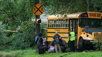 School bus driver killed during safety drill - Photo