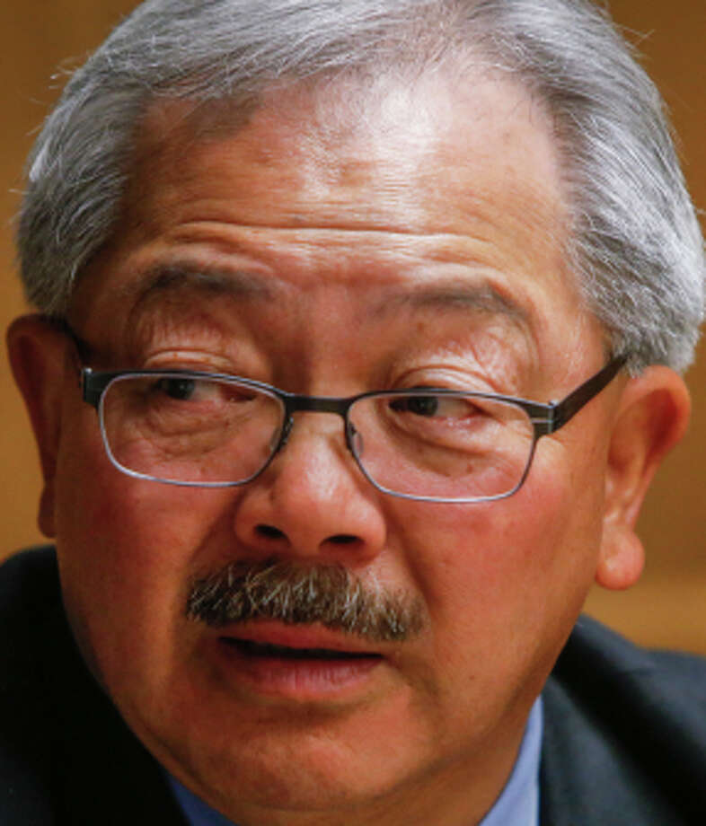 San Francisco Mayor Ed Lee would only give his opinion on selected ballot measures at The Chronicle. Photo: Russell Yip, Staff / The Chronicle / ONLINE_YES