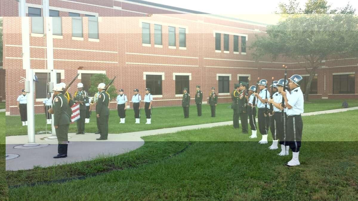 Westside High School JROTC cadets conduct 9/11 ceremony.