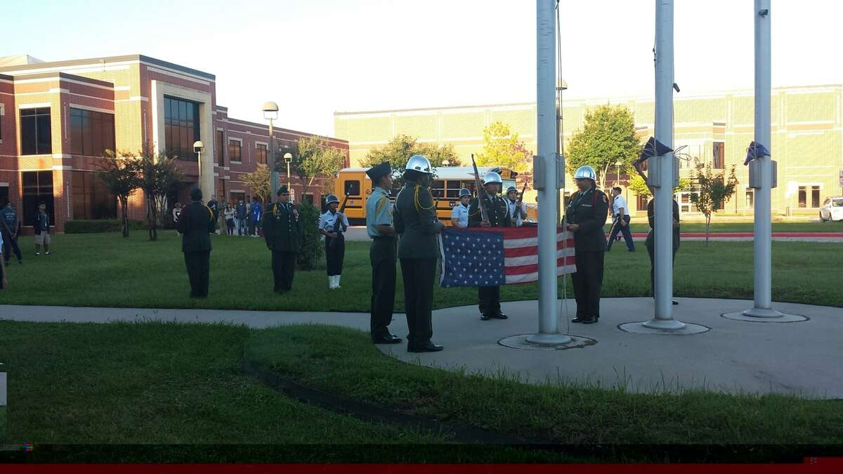 Westside High School JROTC cadets conducting the school's annual 9/11 ceremony.