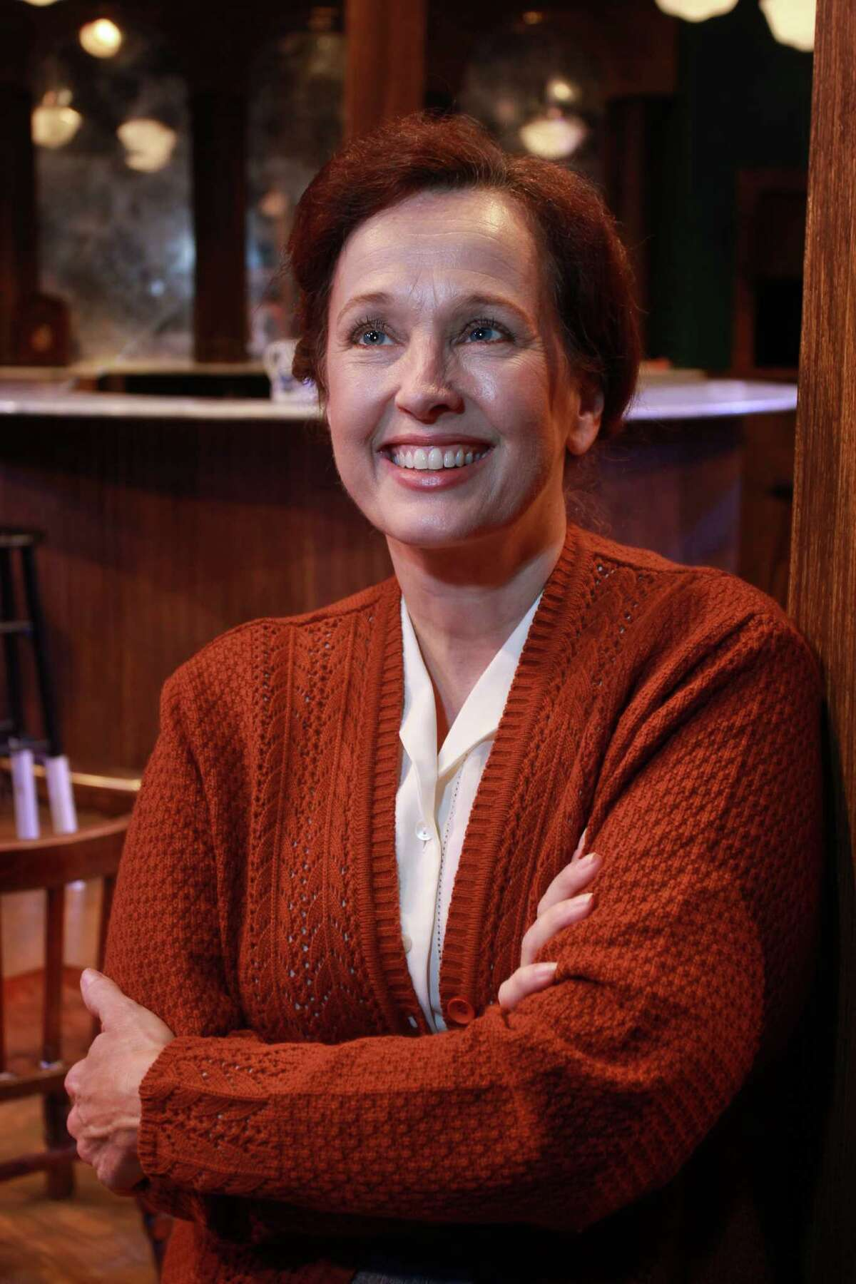 """Celeste Roberts, who plays Nora Shattock in Main Street Theater's production of Noël Coward's """"Peace in Our Time,"""" has performed in many Main Street Theater shows."""