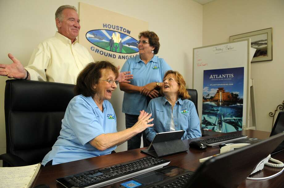 Houston Ground Angels executive director Dayton Zimmermann, left, founder Kathy Broussard and mission coordinators Kathy Cardiff  and Mary Hutto arrange free ground transportation for hospital patients. Photo: Jerry Baker, Freelance